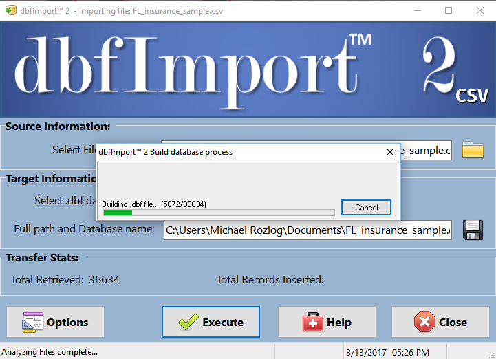 dbfImport 2 5